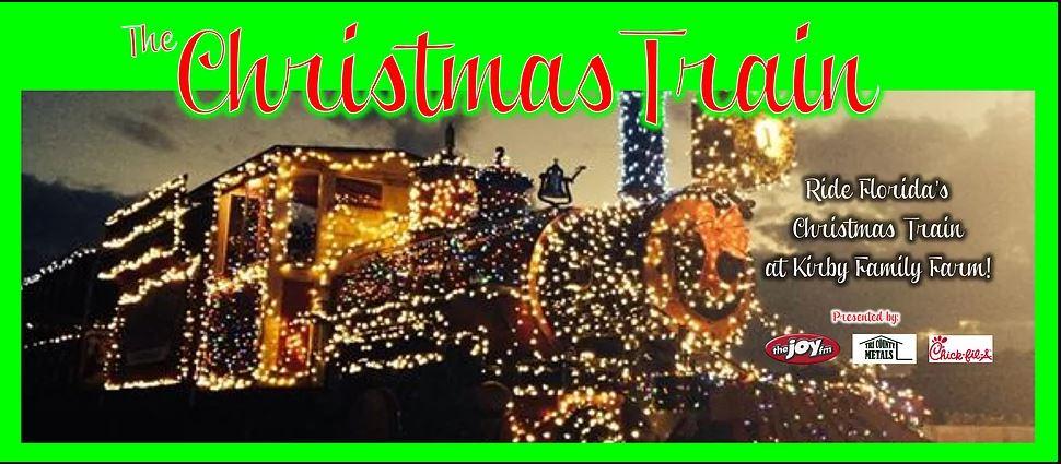 the christmas train at kirby family farms williston fl the joy fm - Florida Christmas