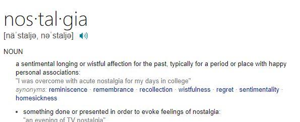 Bill's BIG Word of the Day - nostalgia | The JOY FM ...