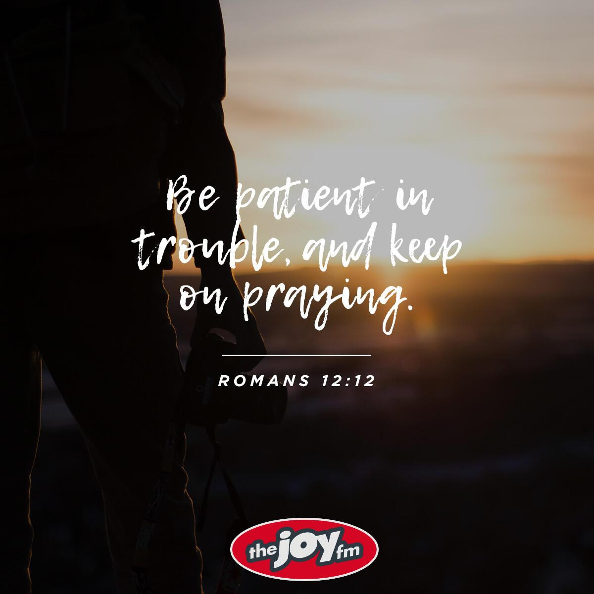 Romans 12:12 - Verse of the Day