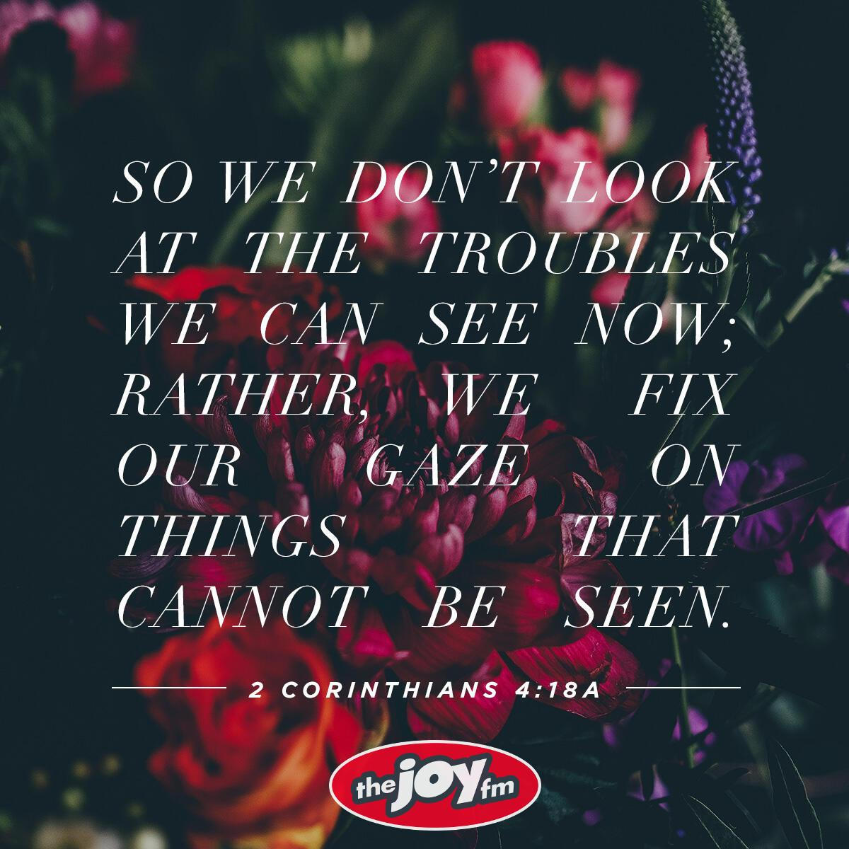 2 Corinthians 4:18a - Verse of the Day