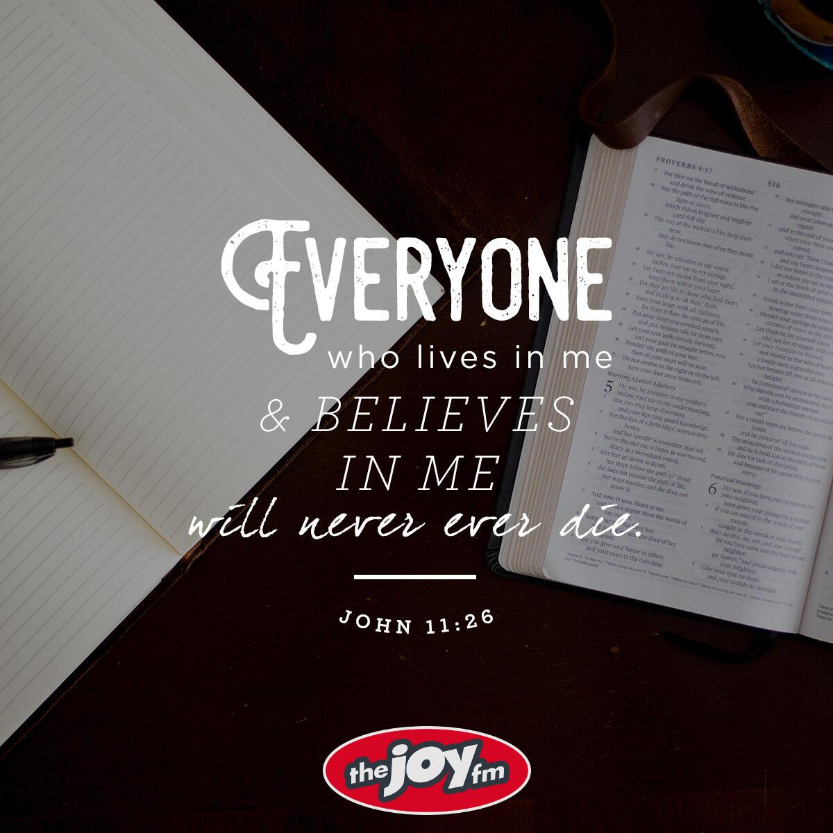 John 11:26 - Verse of the Day