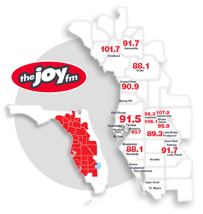 JOY FM Coverage Map